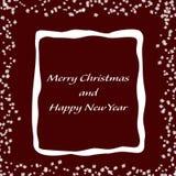 Минималистская рождественская открытка с снежинками Стоковое Изображение RF