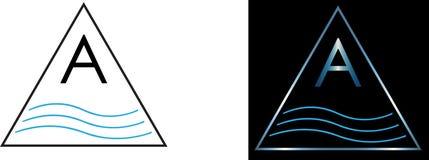 Минималистский логотип для бассейна экранирует логотип воды Стоковая Фотография