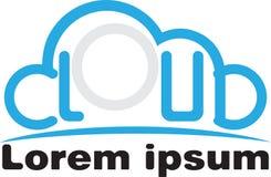 Минималистский логотип облака стоковое изображение