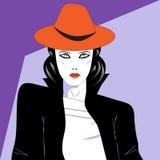 Минималистский портрет современной женщины Стоковые Изображения RF
