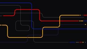 Минимальная геометрическая линия предпосылка элементов абстрактная иллюстрация штока