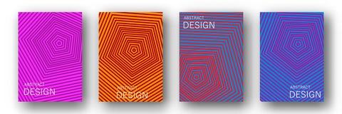 Минимальное собрание вектора дизайна годового отчета бесплатная иллюстрация