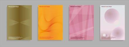 Минимальные установленные крышки Будущий геометрический дизайн Абстрактные сетки 3d Вектор Eps10 Стоковые Изображения