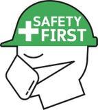 Минимальный значок безопасность прежде всего бесплатная иллюстрация