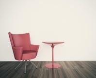 Минимальный интерьер с одиночным креслом Стоковые Фото