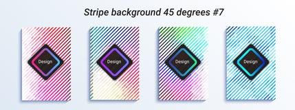 Минимальный striped дизайн bakcground Красочный градиент полутонового изображения яркая геометрическая картина также вектор иллюс иллюстрация штока