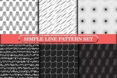 Минималистская, простая линия геометрическое безшовное собрание картины Стоковая Фотография
