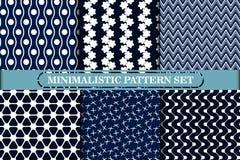 Минималистское, простое геометрическое безшовное собрание картины Стоковая Фотография
