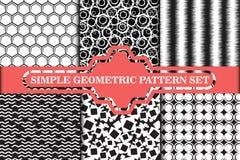 Минималистское, простое геометрическое безшовное собрание картины Стоковая Фотография RF