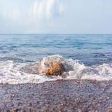 Минималист туманный seascape стоковое изображение