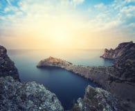 Минималист туманный seascape стоковые фотографии rf