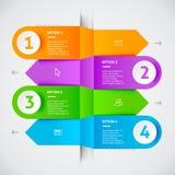 Минимальные красочные элементы infographics Стоковое фото RF