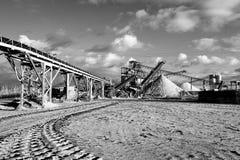 Минирование открытого карьер для песка и гравия Стоковое Изображение RF