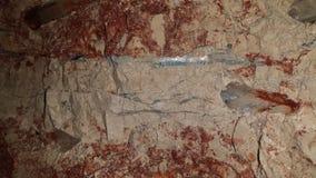 Минирующ на опалы и минируя жизнь в полях захолустья NSW опаловых, Новый Уэльс, Австралия Стоковое Изображение