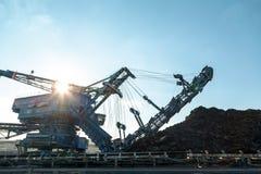 Минируя машинное оборудование в шахте Стоковая Фотография