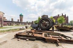 Минируя машины для добычи угля и обрабатывать стоковое фото rf