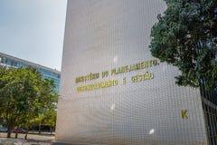 Министерство здания планирования, развития, и управления - Brasilia, Distrito федерального, Бразилии стоковая фотография rf