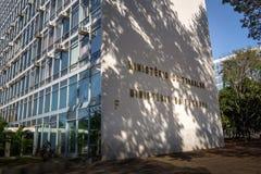 Министерство здания работы - Brasilia, Distrito федерального, Бразилии стоковые изображения