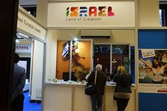 Министерство Израиля туризма на TT Варшаве 2017 стоковые изображения rf