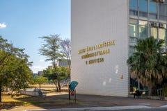 Министерство индустрии, торговли и обслуживаний - Brasilia, Distrito федерального, Бразилии стоковое изображение rf