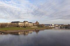 Министерство финансов и ведомство канцлера положения Саксонии на Эльбе dresden Германия стоковое фото rf