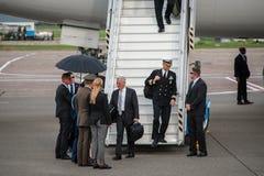 Министр Обороны Джеймс Mattis США приехал в Kyiv Стоковые Изображения RF
