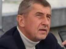 Министр финансов чехии Andrej Babis стоковая фотография rf