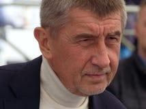 Министр финансов чехии Andrej Babis стоковые изображения