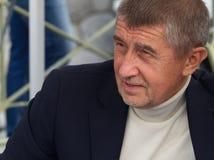 Министр финансов чехии Andrej Babis стоковые изображения rf