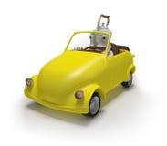 Миниый автомобиль с чайником Стоковое Изображение