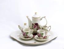 миниый чай комплекта Стоковое Изображение
