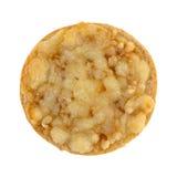 Мини бейгл пиццы сыра на белой предпосылке Стоковые Изображения RF