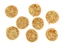 Мини бейгл пиццы сыра на белой предпосылке Стоковые Фото