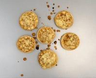 Мини бейгл пиццы сыра на лотке выпечки Стоковая Фотография RF