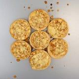 Мини бейгл пиццы сыра на лотке выпечки Стоковые Изображения