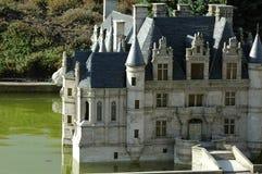 Мини Европа Parc в Брюсселе, Бельгии - французском замке Стоковая Фотография RF