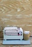 Мини деревянная мебель игрушки Стоковое фото RF
