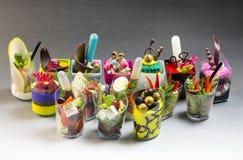 Мини десерты и канапе мяса vegetable Стоковые Изображения