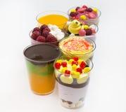 Мини десерты и канапе мяса vegetable Стоковое фото RF
