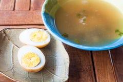 Мини еда горячего супа свинины Стоковые Фотографии RF