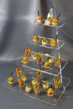 Мини закуски овоща десертов и канапе мяса Стоковое Изображение RF