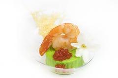 Мини закуски овоща десертов и канапе мяса Стоковое Изображение