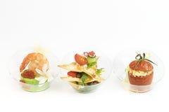 Мини закуски овоща десертов и канапе мяса Стоковая Фотография