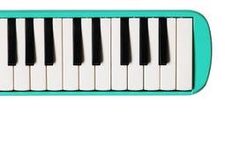 Мини клавиатура рояля Музыкальная плоская предпосылка Стоковые Изображения