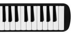 Мини клавиатура рояля Музыкальная плоская предпосылка Стоковое фото RF