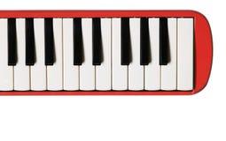Мини клавиатура рояля Музыкальная плоская предпосылка Стоковое Фото
