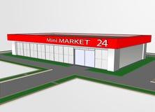 Мини магазин рынка Стоковые Изображения RF
