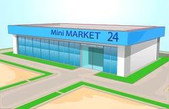 Мини магазин 2 рынка Стоковое Фото