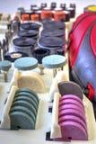 Мини машина сверла с комплектом различных аксессуаров Стоковая Фотография