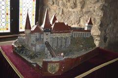 Мини модельный замок Трансильвания Corvin, Румыния Стоковое Изображение RF